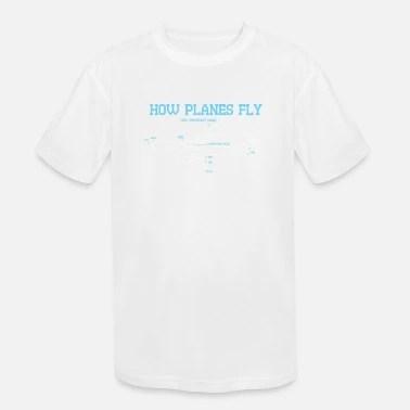 Cool AEROSPACE ENGINEER Tee: How Planes Fly Kids' T-Shirt