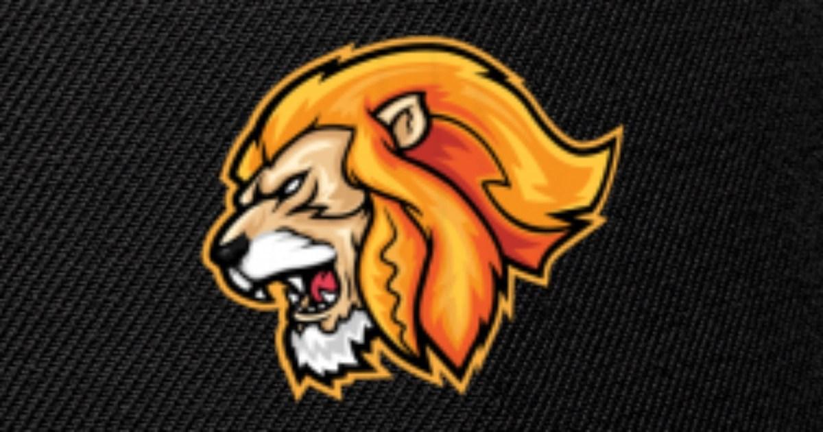 cartoon fierce lion head