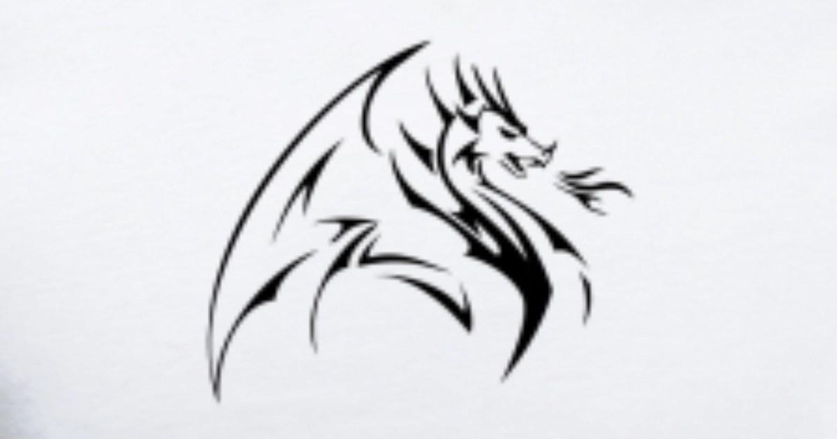 shape chinese dragon logo