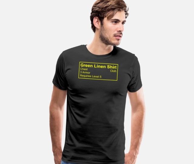 Greenman T Shirts Green Linen Shirt Mens Premium T Shirt Black