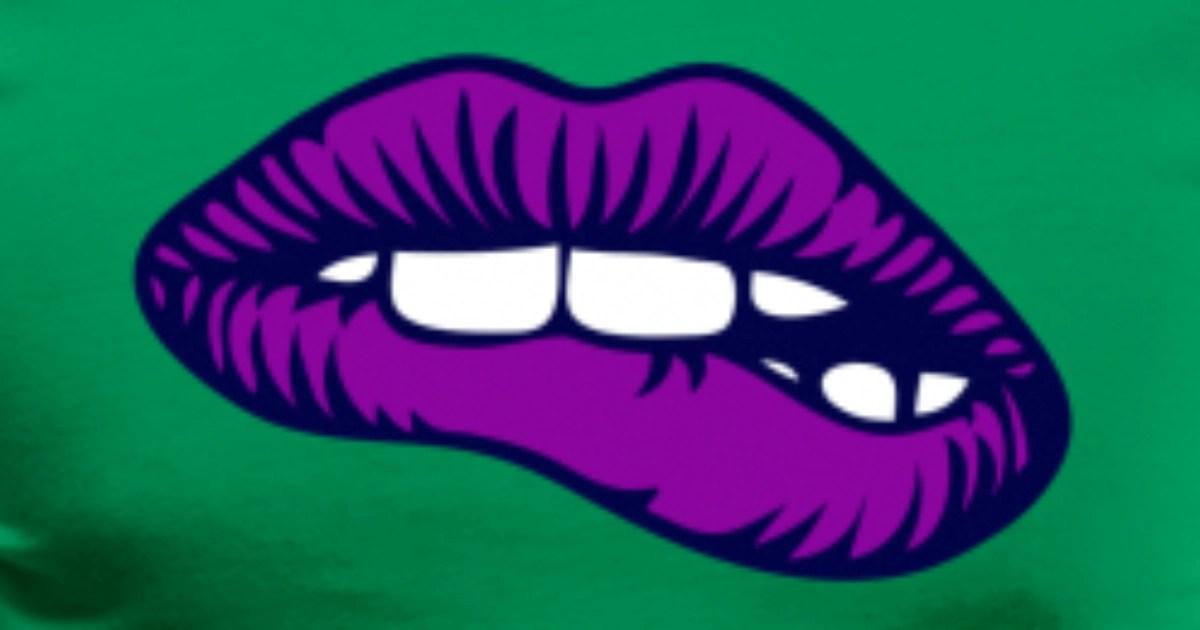 purple lips men s