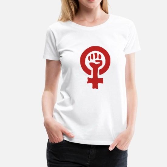 red feminist logo women