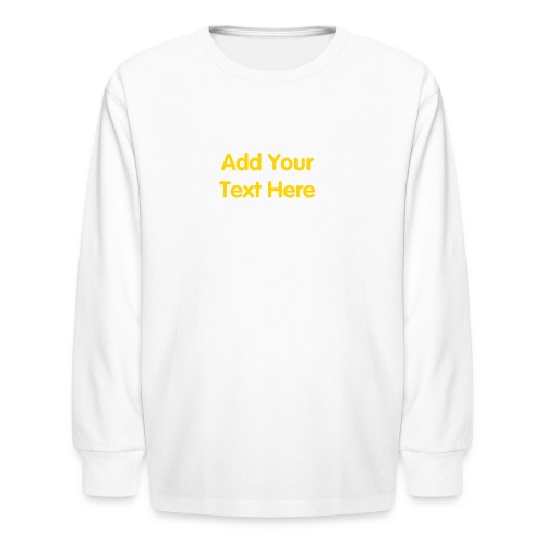 Kids Long Sleeve T-Shirt Design Template with your own