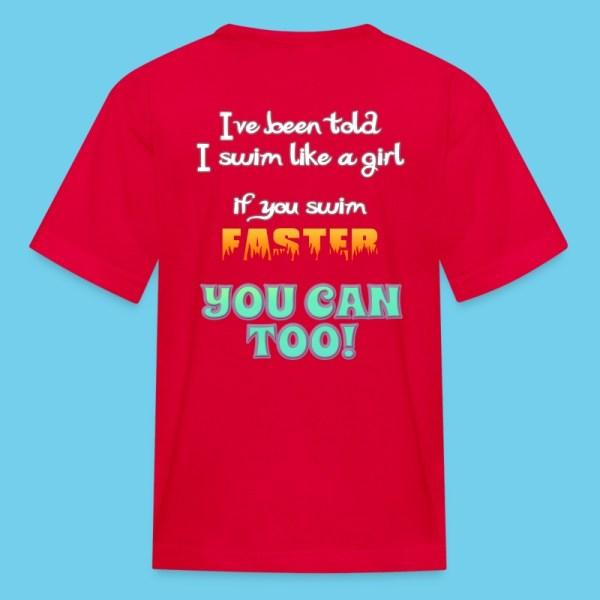 Swim Faster T-shirt Chlorine Gear