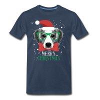 Merry Christmas Dog T-shirt T-Shirt | Spreadshirt
