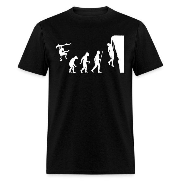 Evolution Rock Climbing T-shirt Spreadshirt