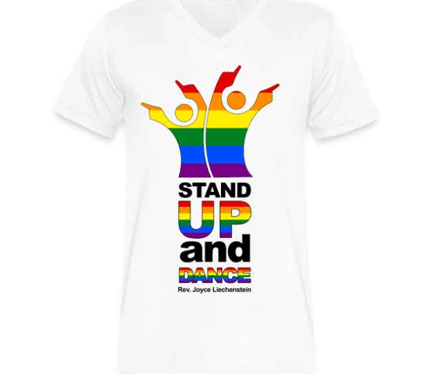 Stand Up And Dance V Neck T Shirt White