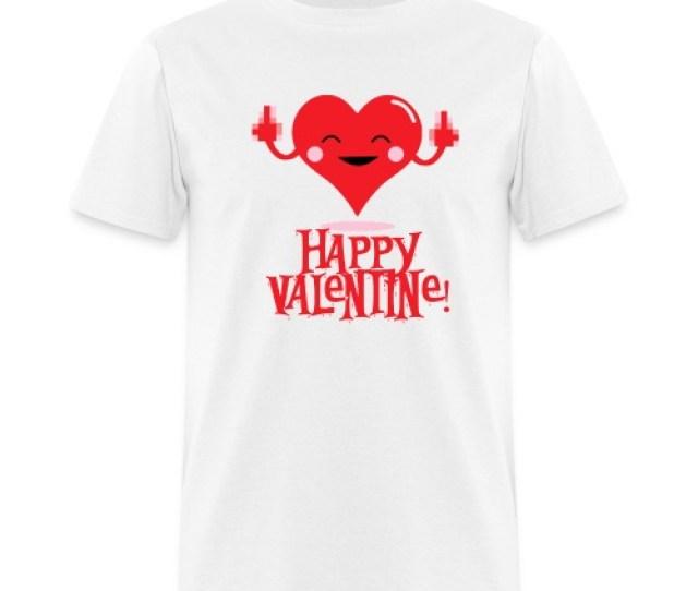 Happy Flippin Valentine T Shirt On Sale Mens T Shirt