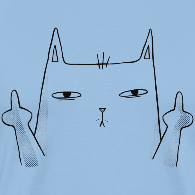 Middle finger cat with F ** K OFF inscription