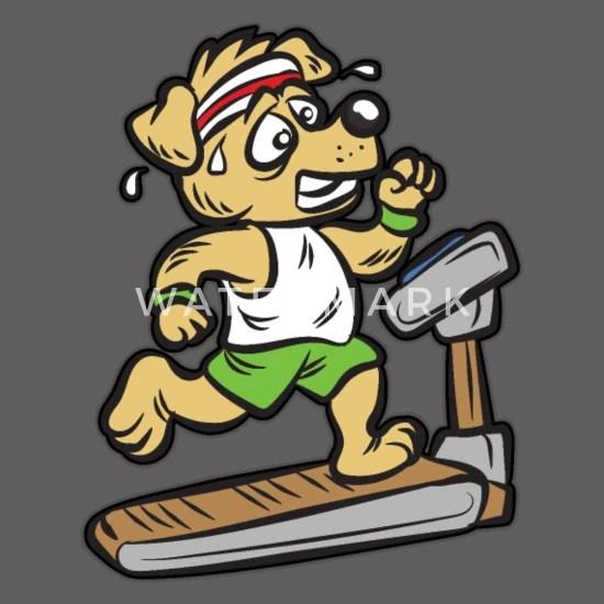chien d entrainement cardio sur le tapis de course comic humour sweat a capuche leger unisexe gris chine