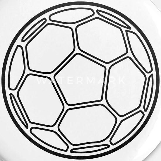 handball ball buttons klein weiss