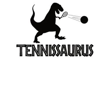 Lustiger Tennis T-Rex Dino Dinosaurier Saurier Männer