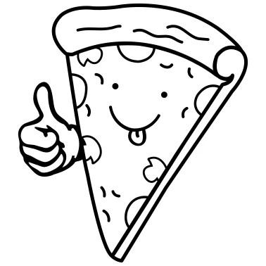 pizza dripping cheese salami piece design Men's T-Shirt