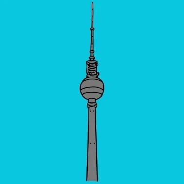 Berliner Fernsehturm zum Ausmalen littlepublic Kinder