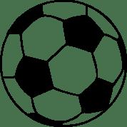 ballon de foot football tapis de souris blanc