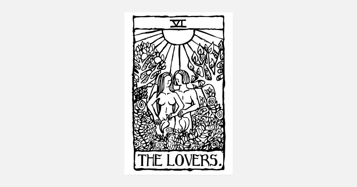 the lovers tarot karte poster poster spreadshirt