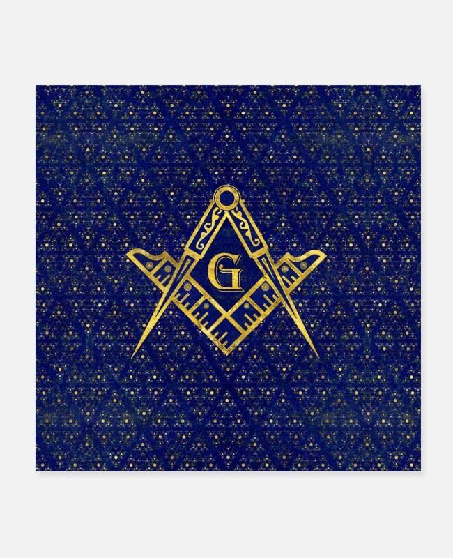 Symbole De La Franc Maçonnerie : symbole, franc, maçonnerie, Symbole, Franc-maçonnerie, Carré, Boussoles', Posters, Spreadshirt