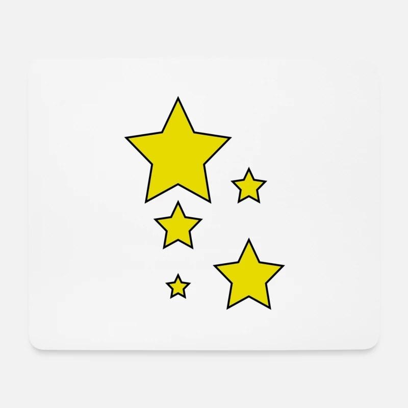 etoile jaune tapis de souris blanc