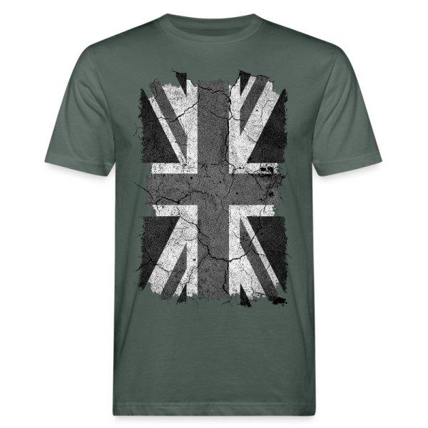8bca3809d5fc Grunge Black And White Union Jack Uk Flag T-shirt