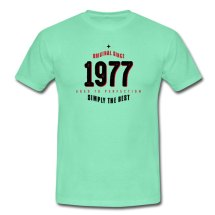 Original 1977 Simply 40th Birthday T-shirt