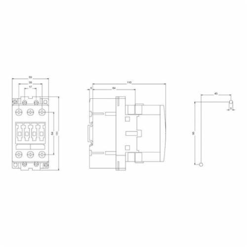 SIRIUS 3RT1033-1AK60 Standard IEC Contactor 3RT1033-1AK60