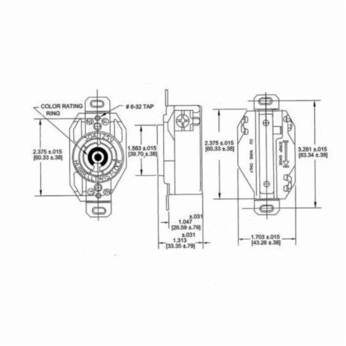 Hubbell Wiring Device-Kellems Twist-Lock® HBL2620