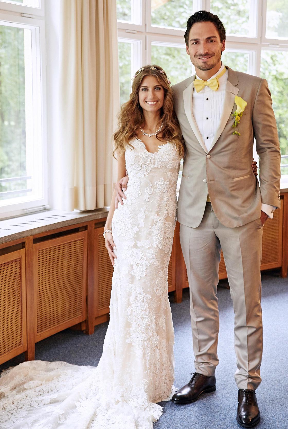 Cathy Fischer und Mats Hummels heiraten Hochzeit im Regen