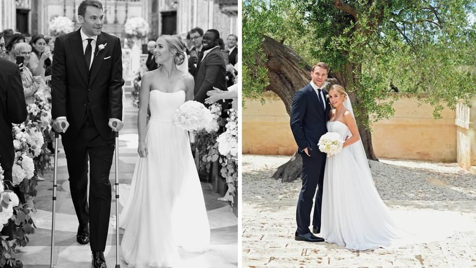 Trauung auf Krcken  Manuel Neuer heiratet kirchlich  STERNde