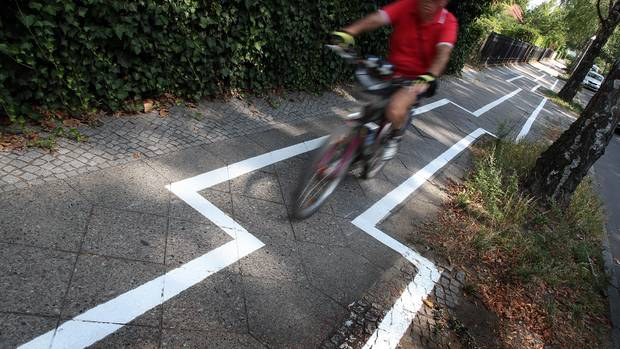 Bike path in Berlin