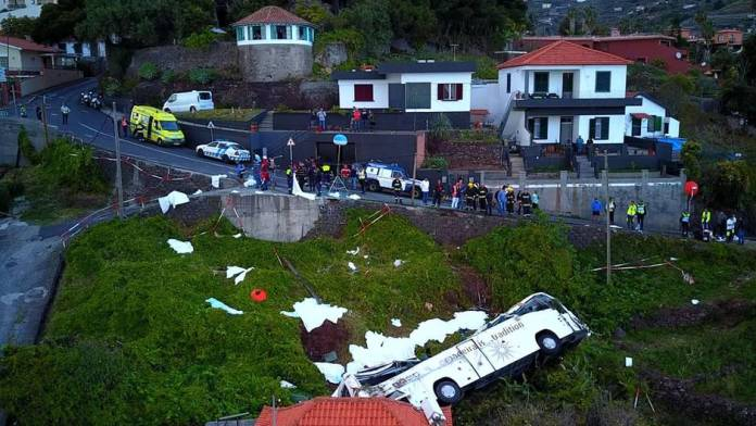 Bus accident in Madeira