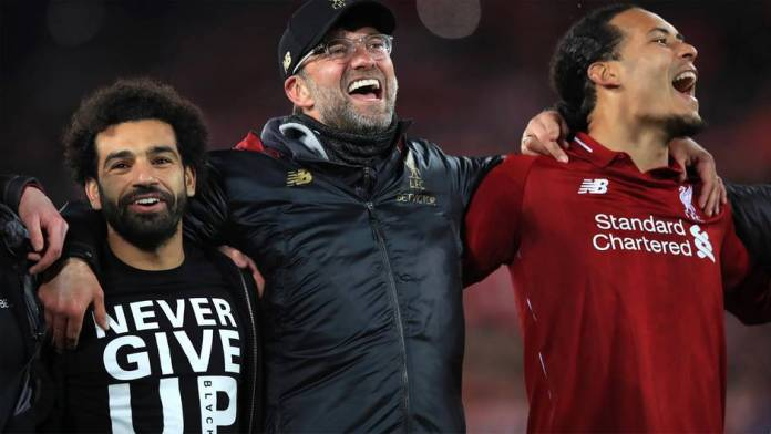 Liverpool manager Jürgen Klopp is happy with his teammates on the surprising 4-0 win over Barcelona in the semifinals of the Champions League 2019.