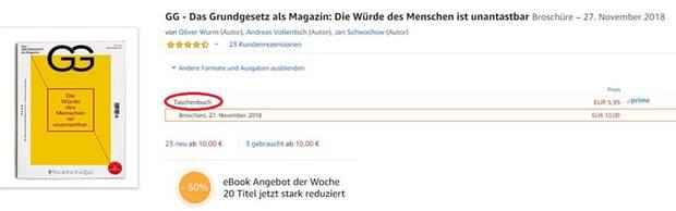 """Andere """"Formate und Ausgaben"""" des Grundgesetz-Magazins auf Amazon"""