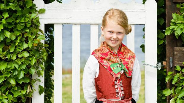 Girl in traditional costume