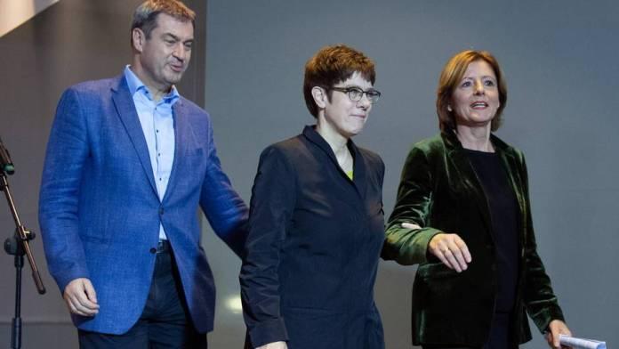 Ground rent compromise: Markus SOder, Annegret Kramp-Karrenbauer and Malu Dreyer are satisfied