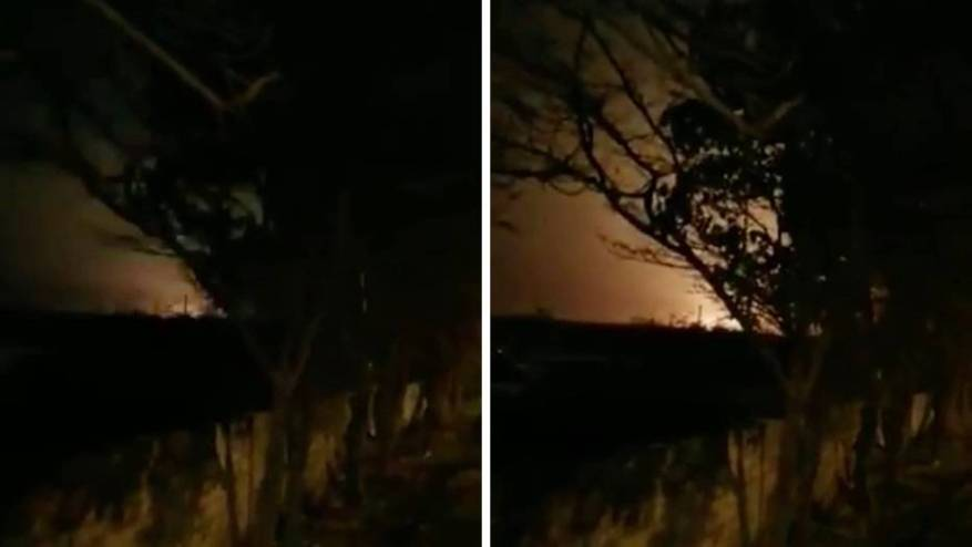 This video is supposed to show the crash of the Ukrainian passenger plane
