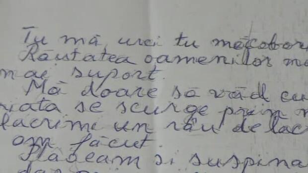 scrisoare de adio a unui copil