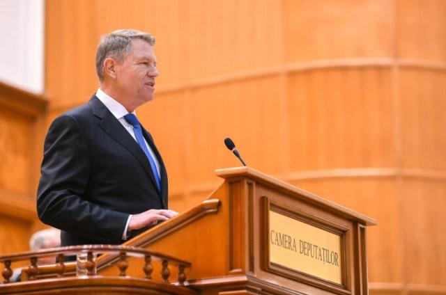 Klaus Iohannis in Parlament - 5