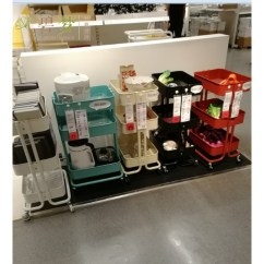 Kitchen Cart Table Standard Size Sink 宜家推车可移动厨房置物架推车餐车边桌整理架子多功能储物攸竹餐饮 烘焙 宜家推车可移动厨房置物架推车餐车边桌整理架子多