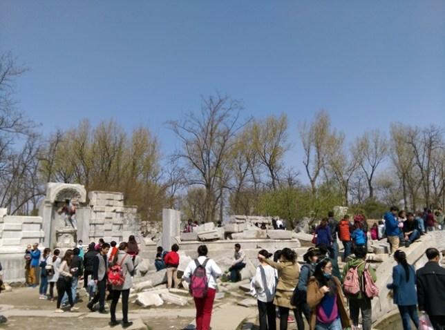 38 Beijing-圓明園 英法聯軍毀的差不多了 但還是被列入世界文化遺產