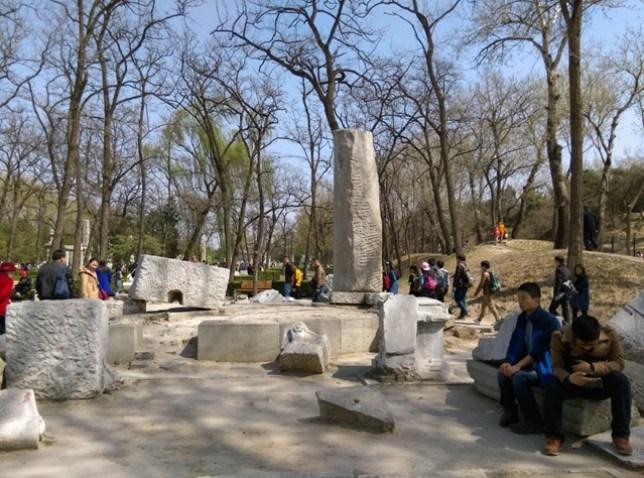 45 Beijing-圓明園 英法聯軍毀的差不多了 但還是被列入世界文化遺產