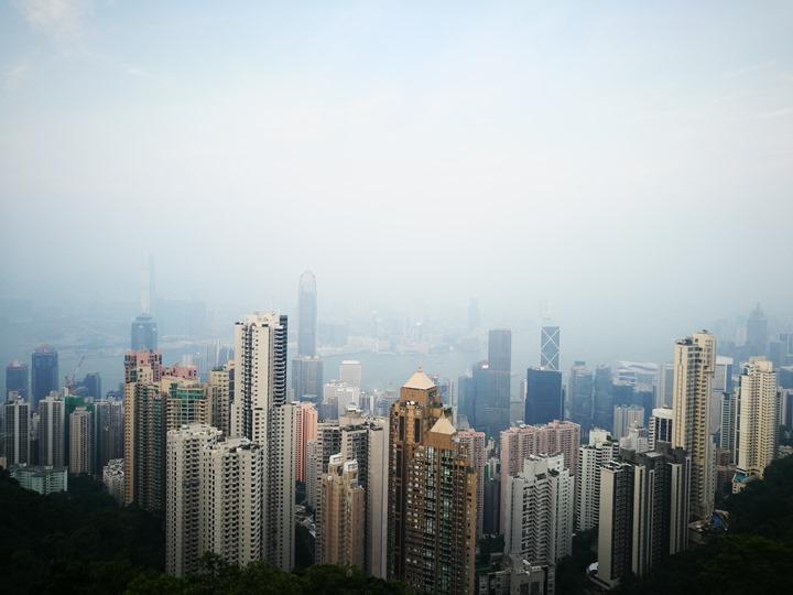 thepeak07 HK-擁擠的太平山The Peak 太平山夜景香港城市的擁擠