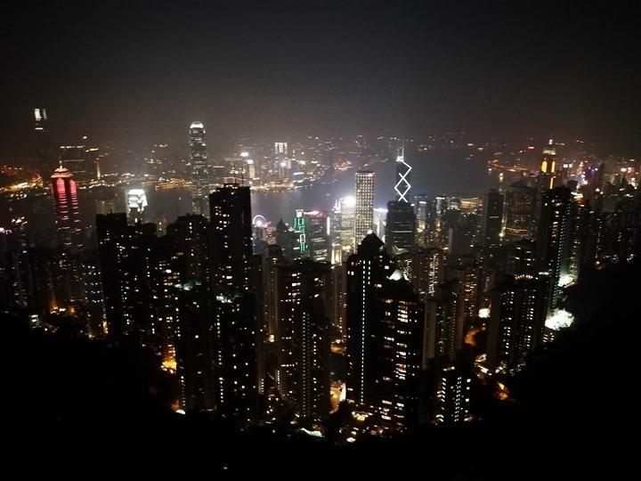 thepeak26 HK-擁擠的太平山The Peak 太平山夜景香港城市的擁擠