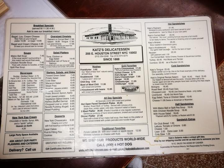 katzs11 New York-果真大蘋果之紐約真好玩 最好吃的燻牛肉三明治Katz's Delicatessen