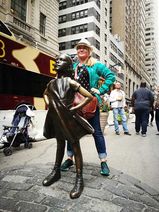 wallstreet2317 New York-紐約真好玩之華爾街的金融遊戲/帶領股市向上的金牛/無所謂的無畏女孩