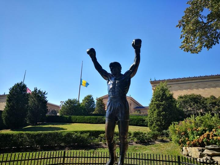 Philly42 Philadelphia-羅丹博物館看雕塑/費城藝術博物館 深植人心的拳王洛基拍攝處