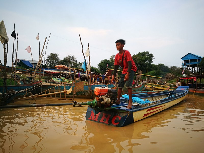 tonlesap44 Siem Reap-Tonle Sap洞里薩湖 柬埔寨的魚米鄉 落後環境中的知足生活