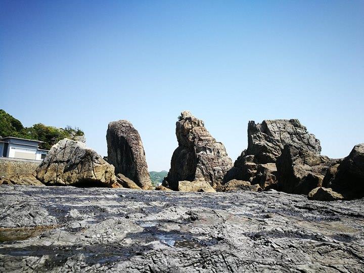 Hashiguiiwa0117-1 Kushimoto-橋杭岩 和歌山串本地質奇景