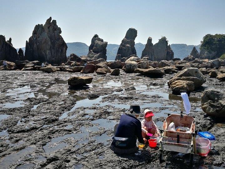 Hashiguiiwa0121-1 Kushimoto-橋杭岩 和歌山串本地質奇景