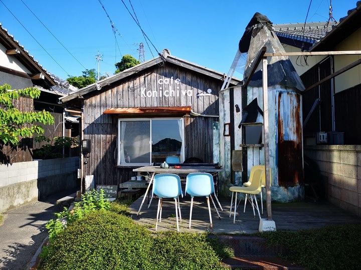 konichiwa01 Naoshima-Cafe Konichiwa直島本村港旁 可愛海景咖啡館