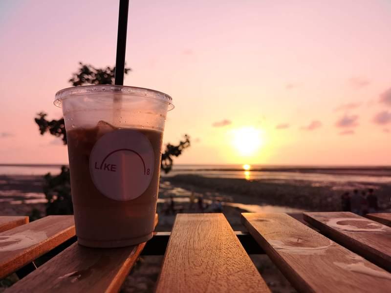 like81715 新竹-國家級香山濕地 美麗落日 Like 8咖啡廳飲料美食 好搭配